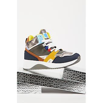 Colour Block High Top Sneakers