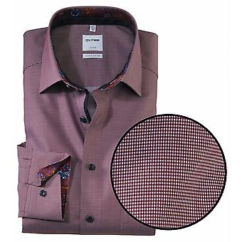 OLYMP Olymp Micro Check Formal Long Sleeve Shirt