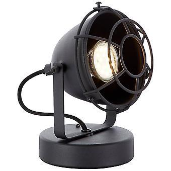 BRILLIANT Lampada Carmen Lampada da Tavolo Black Corundum 1x PAR51, GU10, 28W, adatto per lampade riflettore (non incluso)