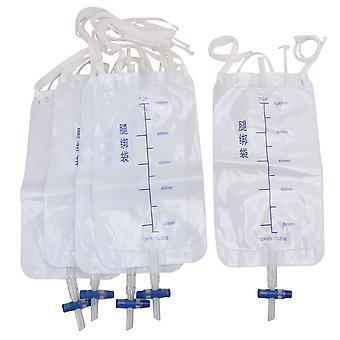 5 Peças Incontinência 1000ml Bolsa externa de tubulação de drenagem urinária