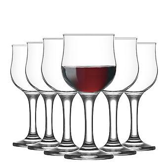 LAV Nevakar Pequeñas Copas de Vino - 200ml - Pack de 6 goblets Stemware para vino tinto vino blanco