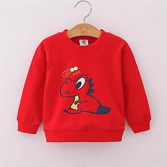 Baby Boy Sweatshirts Hoodies Spring Autumn Cartoon Dinosaur Girl Tops T-shirt