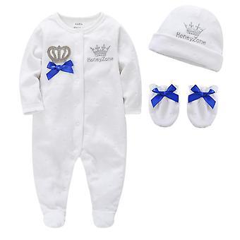 Vauva pijamas hattuja, hanskat puuvilla pehmeä vaatteet