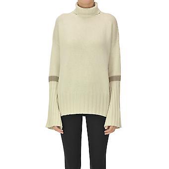 Aragona Ezgl157042 Women's Beige Cashmere Sweater