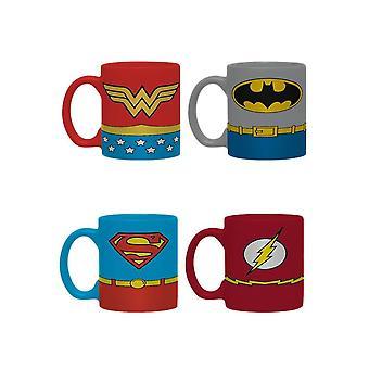 DC Comics Justice League Suits Mini Mug Set