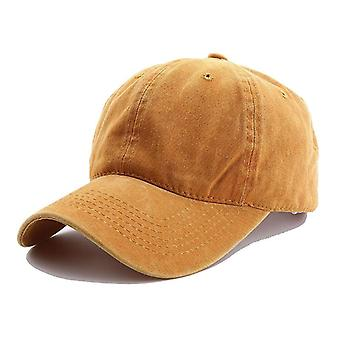 Men Women Spring Summer Ponytail Baseball Cap, Outdoor Cotton Simple Vintage