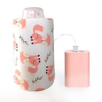 Usb mjölk vatten varmare resevagn isolerad väska