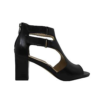 Adrienne Vittadini Womens Rea Leather Open Toe Ankle Fashion Boots