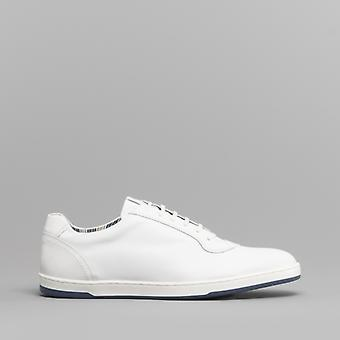 Base London Hustle Mens Leather Trainers White