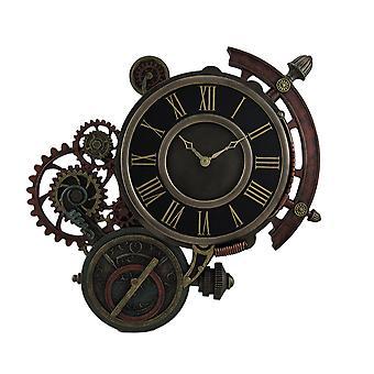 Стимпанк Механические Астролябия звезды Tracker настенные часы 17 дюймов