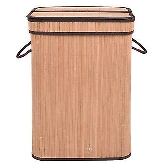 Rectangular Bamboo Laundry Hamper Basket With A Withdrawable Inside
