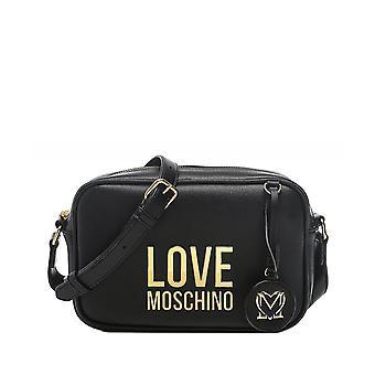 Rakkaus Moschino Bonded Gold Logo Kamera Laukku