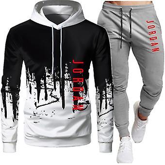 Men Sweatshirt+pants, Pullover Hoodie Sportswear Suit