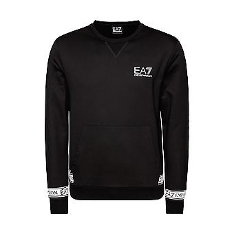 Sweat-shirt EA7 Emporio Armani Tape - Noir/Blanc