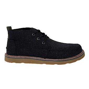 Toms Chukka Black Melange Woven Lace Up Desert Ankle Boots Mens 10012511