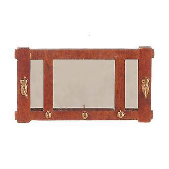 Nuket Talo Taide & Käsityöt Walnut Mission Wall Mirror Jbm Miniatyyri Lisävaruste