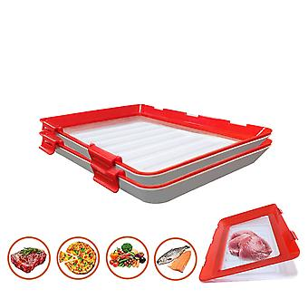 Food Preservation Tray Creative Plastic Kitchen Food Storage Tray Food Fresh Organizer Herbruikbare serveertrays
