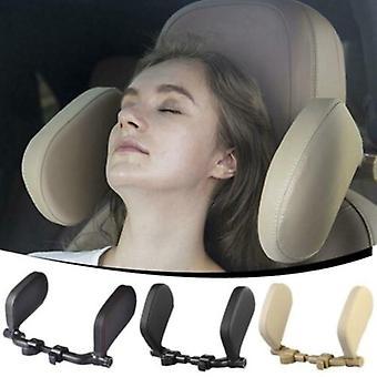 Travel Neck Pillow Leather U-shape Soft Pillow For Car Headrest