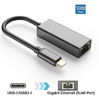 Usb c to ethernet adapter,type c to rj45 gigabit lan network hub 1000 100 10 mbps compatible for mac