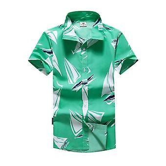 قميص ذكر عارضة كاميسا Masculina المطبوعة الشاطئ والقمصان قصيرة الأكمام العلامة التجارية