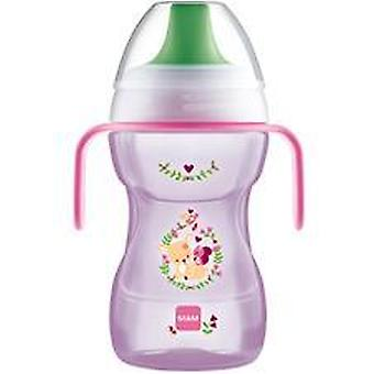 Mam fun to drink cup 270ml with handles pink