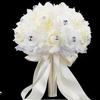 Sztuczna róża kwiatowa, Bukiet ślubny