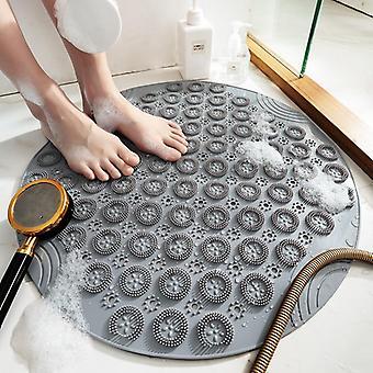 Non-slip Round Bathroom Mat Safety Shower Bath Mat Plastic Massage Pad