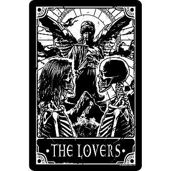 Placa mortal de Tarot The Lovers