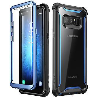 Caso I-Blason Galaxy Note 8 Ares Clear Bumper Case-Black/Blue