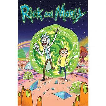 Rick og Morty Plakat Portal 71