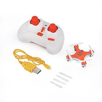 Drone Helikopteri Radio Ilma-alus Päätön Tila Drone Quadcopter (oranssi)