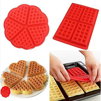 Waffle Mold Waffle Bakeware Non-stick Cake Mould Makers Kitchen Silicone Tool