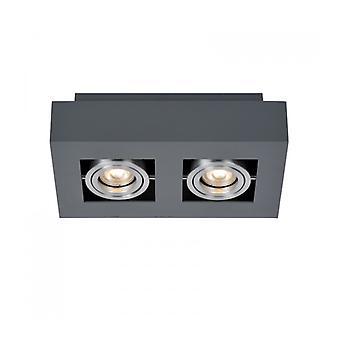 Foco De Techo Moderno Casemiro Aluminio Negro