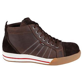 Red brick smaraged brown s3 safety boots mens