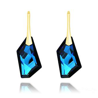 24K gold leverback earrings
