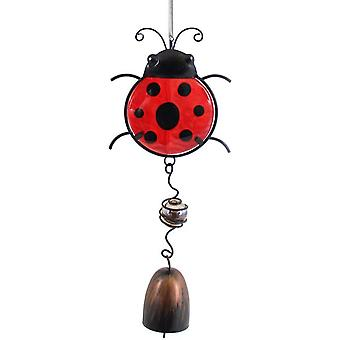 Ladybird Dangly Metal & Glass Windchime