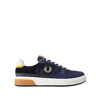 Fred Perry Men's B300 Suede Mesh Tennis Shoes