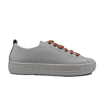 Remonte D0900-81 White Leather Womens Lace Up Casual Trainers