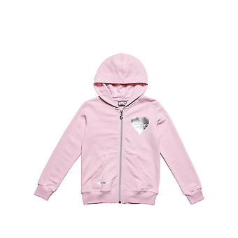 Alouette Girls' Jacket With Silver Heart Print