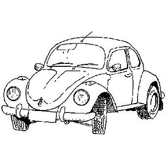 V.W. Beetle Wood Mounted Stamp