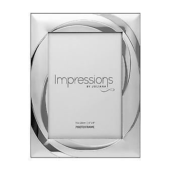 "Impressions By Juliana 2 Tone Silverplated 6 X 8"" Swirl Design Photo Frame"