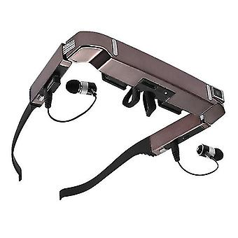 Vision 800 slimme android wifi glazen breedbeeld draagbare video 3d glazen prive-theater met bluetooth camer vr dlp bril