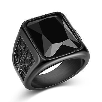 Anillo punk rock de men's Smooth 316l anillo de sello de acero inoxidable