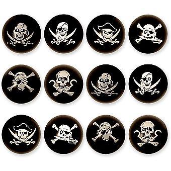 12X Piraten Flummis / fr Kinder-Geburtstag Jungen und Mdchen / Mitgebsel / Kindergeburtstag