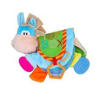 Donkey Educational Fabric Book With Sound Paper Teether Soft Cloth Book