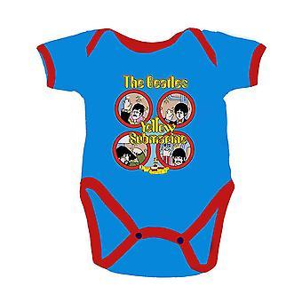 The Beatles Baby Grow Keltainen Sukellusvene Portholes Virallinen 0-24 Kuukautta