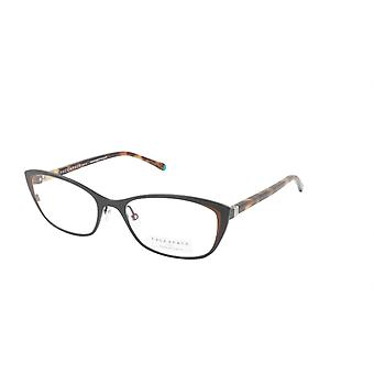 Gesicht ein Gesicht Brillen Rahmen JOYCE 2 Col. 9484 Acetat Satin schwarz Schokolade