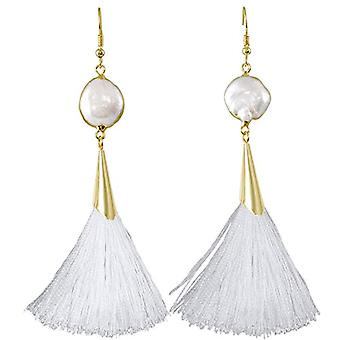 KYEYGWO - Women's earrings with tassel, bohemian style, with thread, with crystals and drop tree and Alloy, color: Ref earrings. 0715444084546