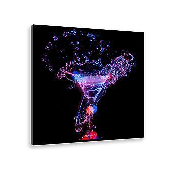 Tableau deco cocktail sans alcool - 50x50 cm