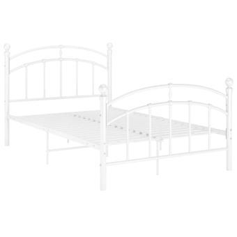 vidaXL Sängyn runko Valkoinen Metalli 120x200 cm
